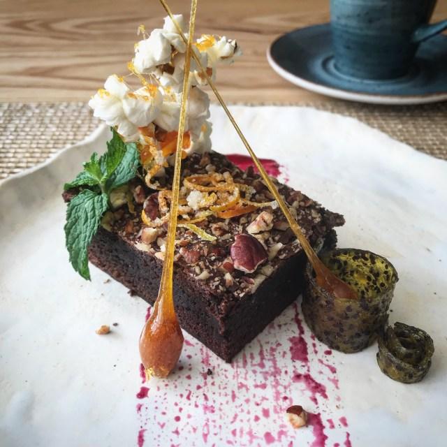 hilton hotel cape town vegan brownie