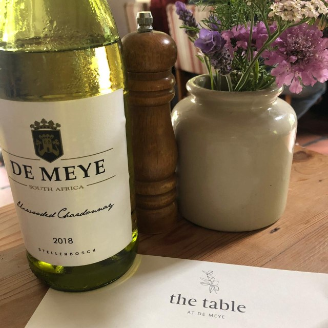 the table at de meye stellenbosch cape town vegan