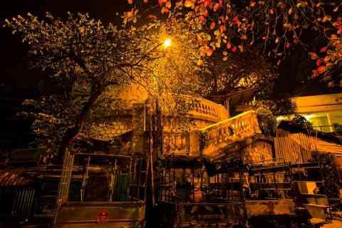 cho dem pho co ha noi. Vào tối thứ 7 hàng tuần, 2 đầu tuyến phố có tổ chức  các buổi biểu diễn văn hoá nghệ thuật dân gian truyền thống như