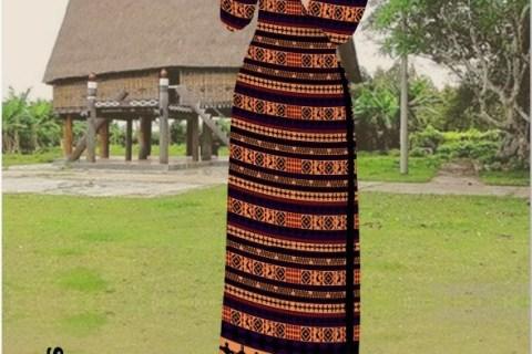 Vải áo dài hoa văn thổ cẩm kiểu mới AD HT4851 - Vải áo dài Trung Hiếu