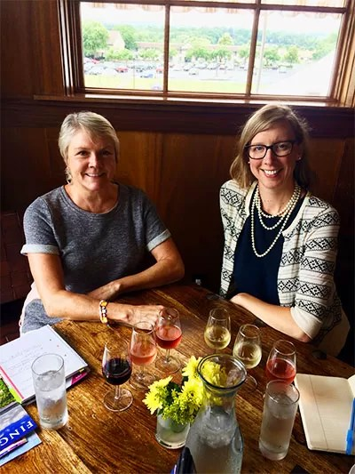 With Tracey Dello Stritto, executive director of Finger Lakes Wine Alliance, at the New York Wine & Culinary Center