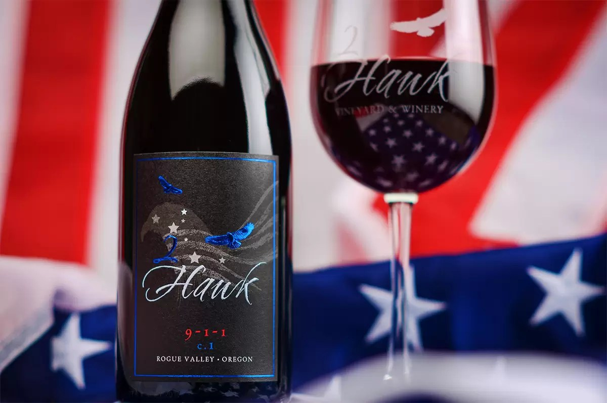 9-1-1 Wine by 2Hawk Vineyard and Winery