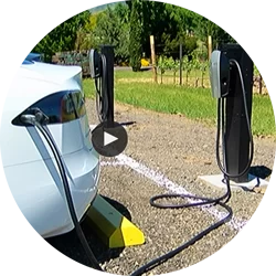 Tesla Charger at 2Hawk Vineyard and Winery