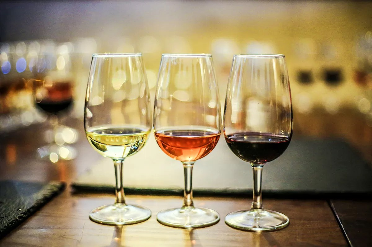 Red, White, and Rose Wines at Wine Tasting