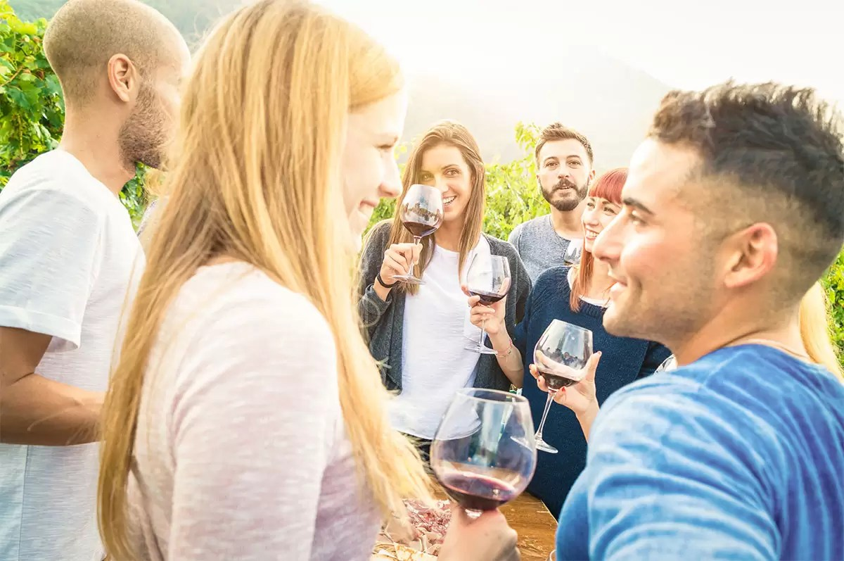 Outdoors Wine Event with Friends