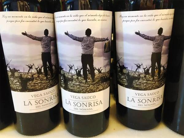 Vega Sauco La Sonrisa del Nomada Wine Label