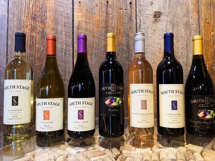 South Stage Cellars Wine Bottles