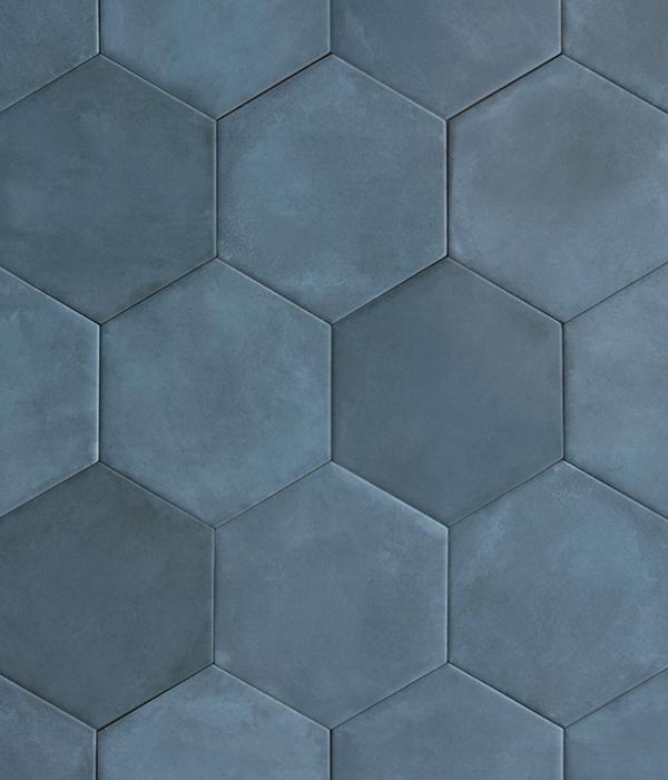 medina hexagon porcelain navy blue porcelain tiles ca pietra