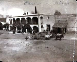 Historic photo of Hacienda La Petaca from 1900 used with permission of owners.