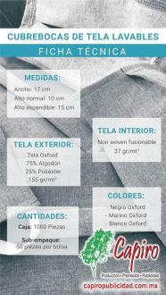 Venta de cubrebocas de tela lavables 2