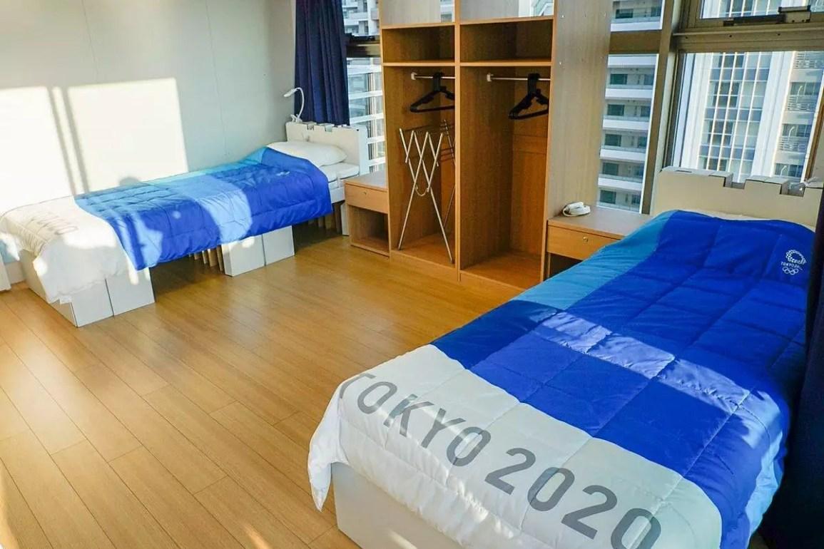 Las peculiares camas de la Villa Olímpica en Tokio 2020