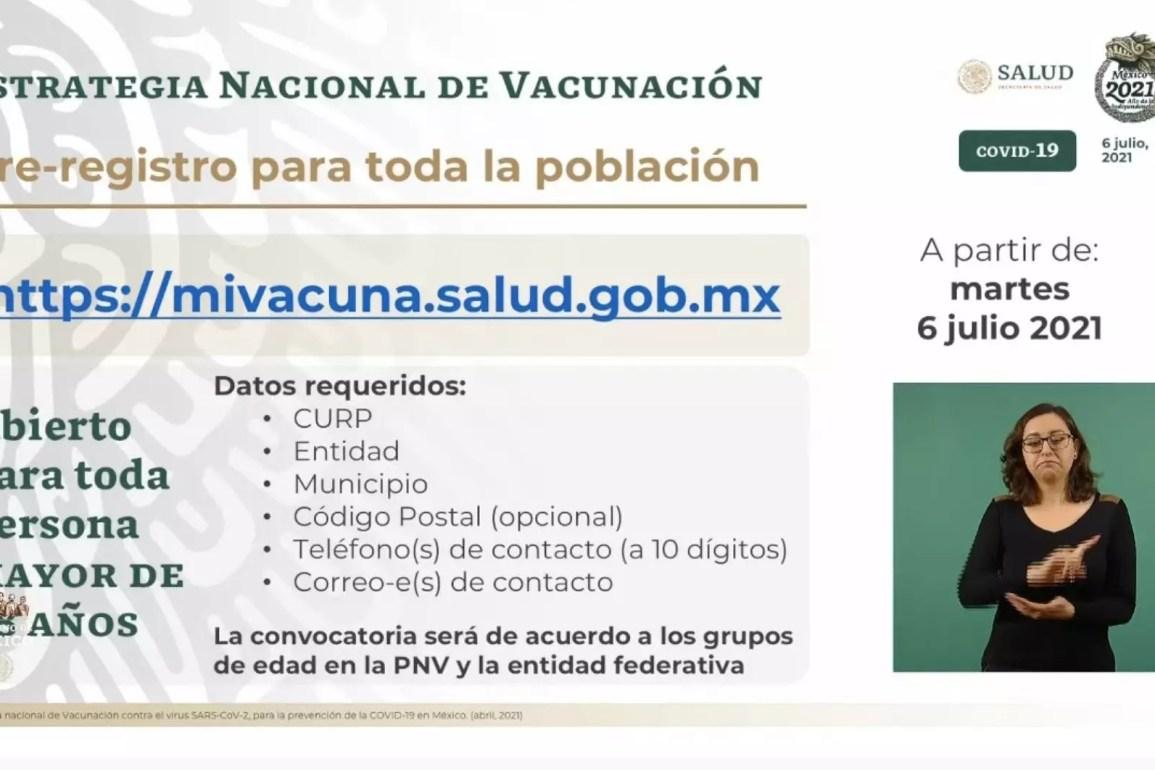 Registro para vacuna COVID-19 en jóvenes