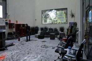 Debido a la confrontación el piso del sitio quedo lleno de gas lacrimógeno