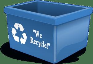 Plastic recycling box for green storage bins