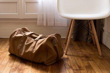 A duffel bag.