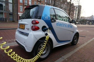 a car getting charged