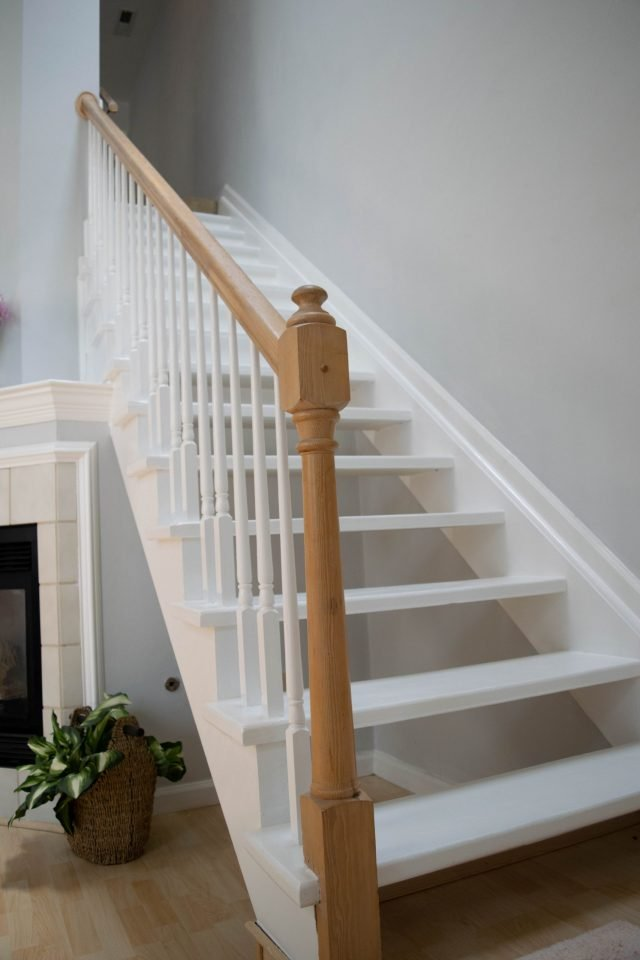 Space-saving tips include turning your staircase into storage space