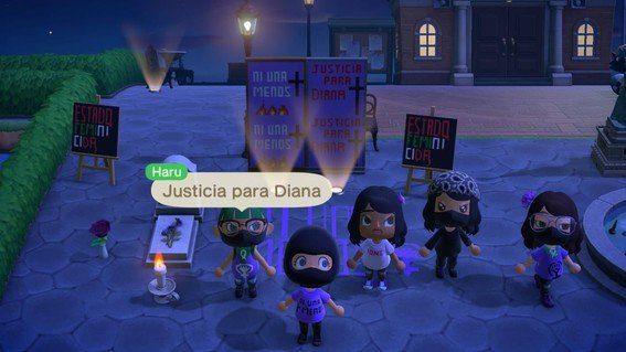 Mexicanas protestan contra feminicidios en Animal Crossing
