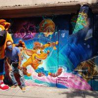 [FOTO] Un mural de Crash Bandicoot en la Ciudad de México