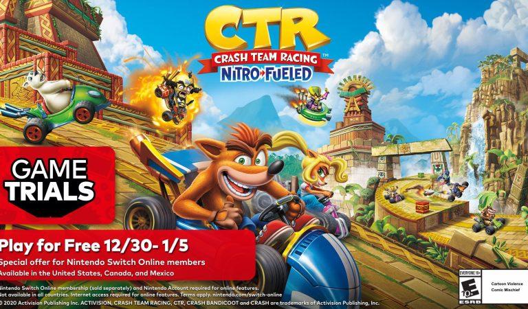 Crash Team Racing Nitro-Fueled estará de forma gratuita en Nintendo