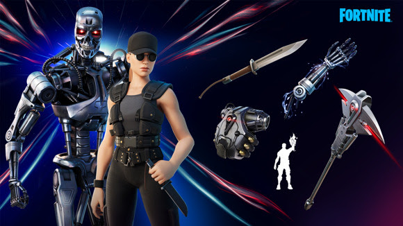Sarah Connor y el T-800 llegan a Fortnite