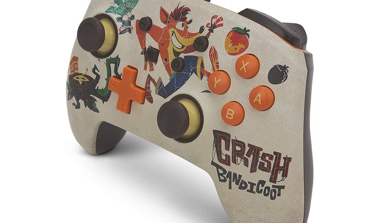 PowerA presenta un control de Crash Bandicoot 4 para Switch