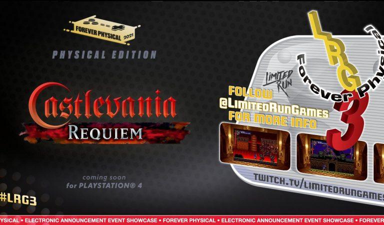 Lanzarán Castlevania Requiem en formato físico para PS4