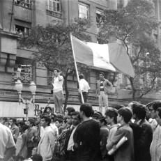Manifestação em 1968. (foto: Evandro Teixeira)