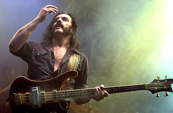 "Lemmy, under the influence of nearly goddamned everything, is suddenly entrance by his ""massive"" hands."