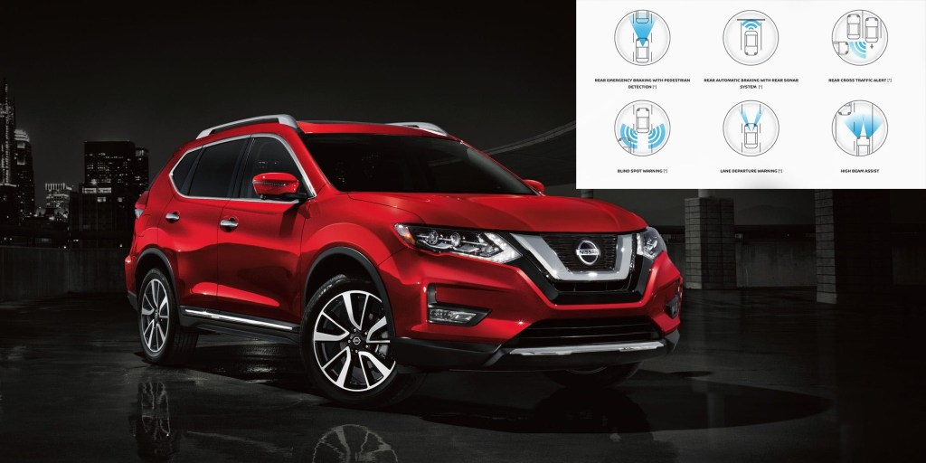 2019 Nissan Rogue with Safety Icons