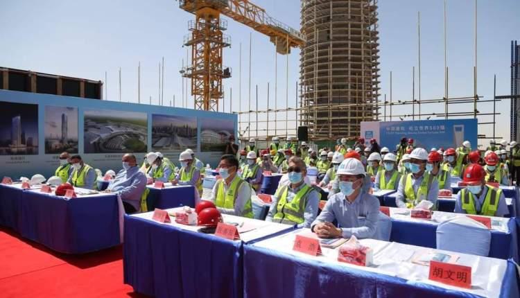 الانتهاء من الأعمال الخرسانية لعاشر برج للأعمال المركزية بالعاصمة الإدارية الجديدة
