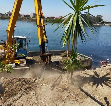وزارة الموارد المائية والرى تواصل حملاتها لإزالة التعديات على نهر النيل