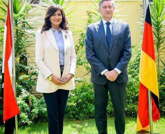 وزيرة الهجرة وسفير ألمانيا يزوران المركز المصري الألماني للوظائف