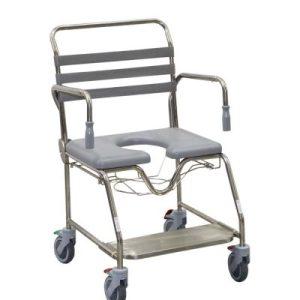 Mobile Shower Commode Sliding Footplate Bariatric