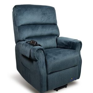 Lift Chair Recliner Mayfair Signature Electric Twin Motor fabric Blue