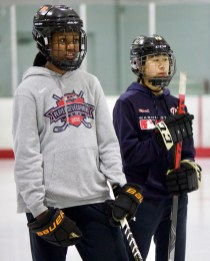 Too young to play in this tournament, but these girls won the skills competition.
