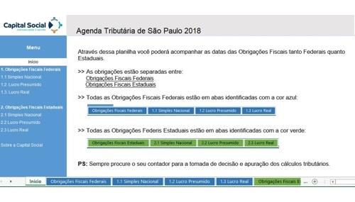 Agenda Tributária SP 2018