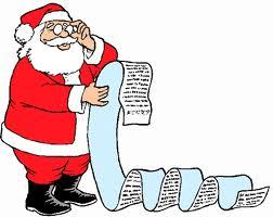 Santa checks his nice list