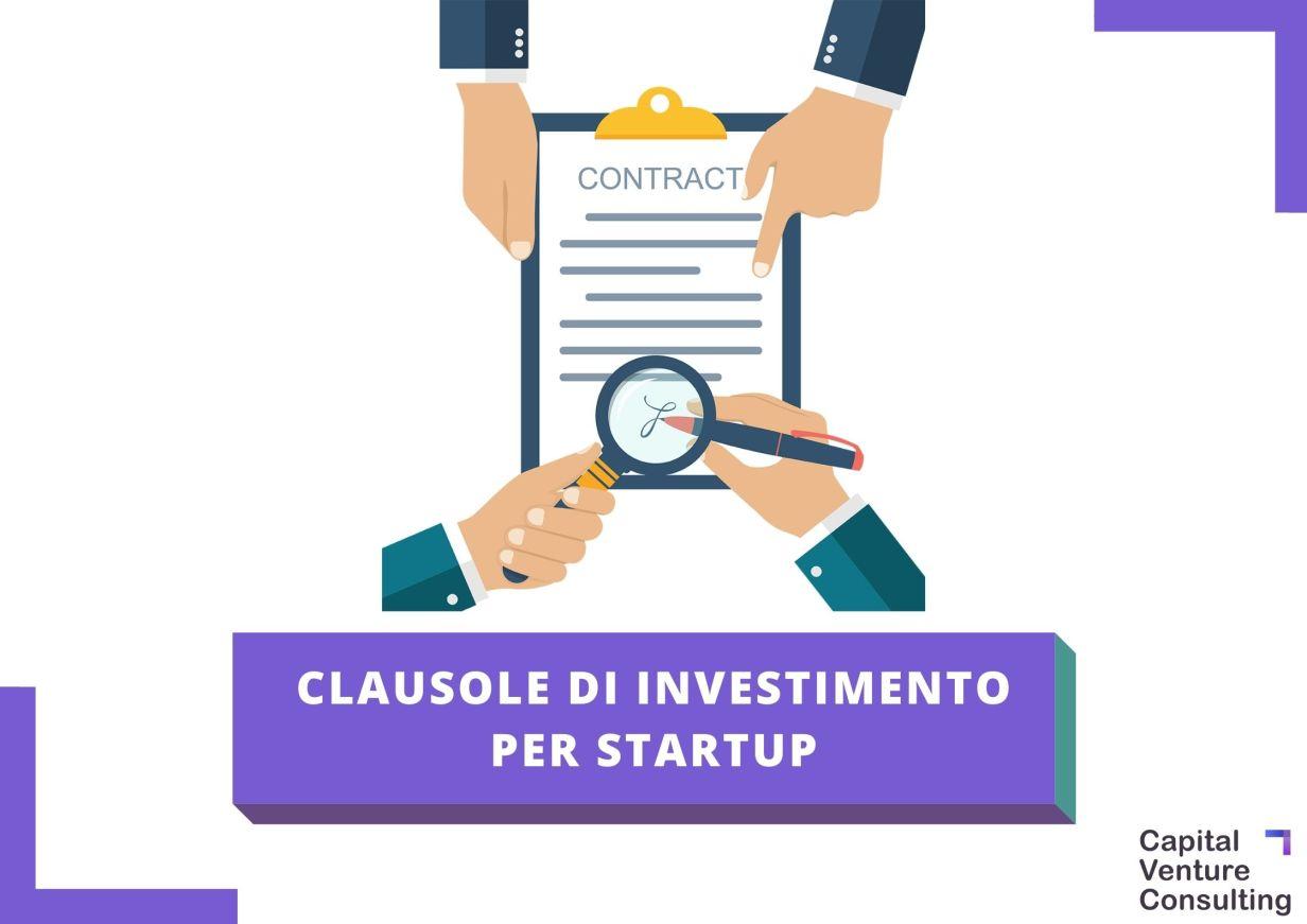 Clausole di investimento startup