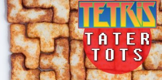 Frituras de papa con formas de Tetris