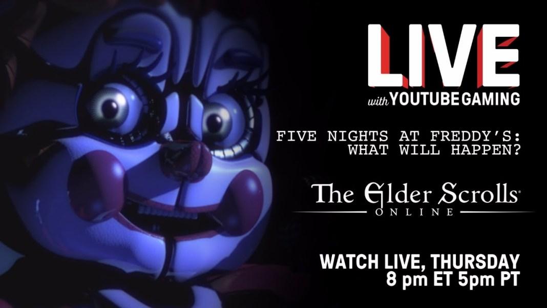 Live with YouTube Gaming-FNAF-Elder Scrolls Online-PSVR-Madilyn Bailey