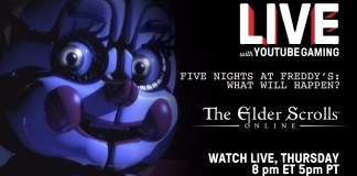 Live with YouTube Gaming-FNAF-Elder Scrolls Online-PSVR-Madilyn Bailey