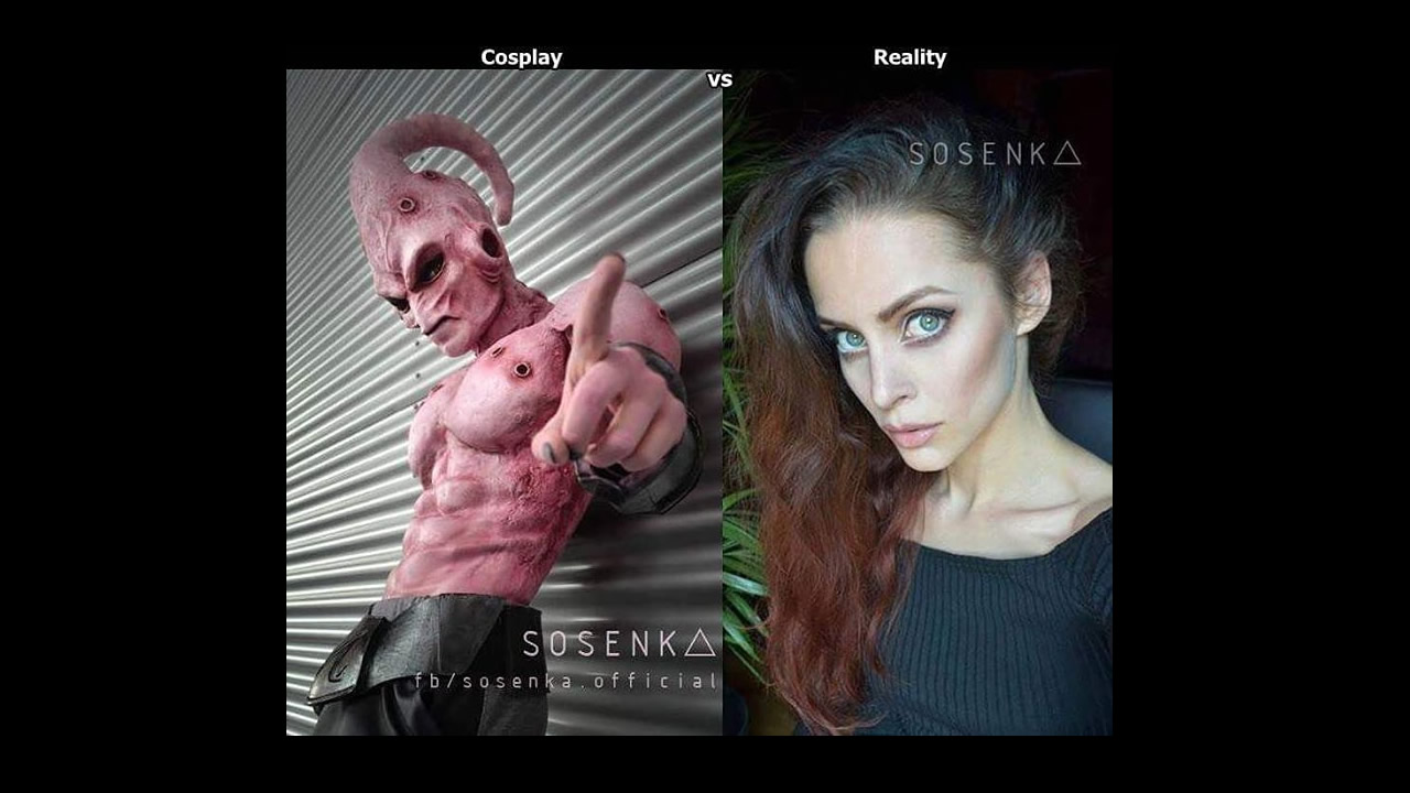 Sosenka nos presenta su cosplay de Majin Buu