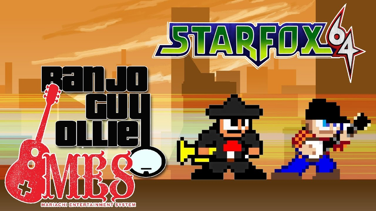 Starfox 64 Star Wolf interpretado por Banjo Guy Ollie y el Mariachi Entertainment System