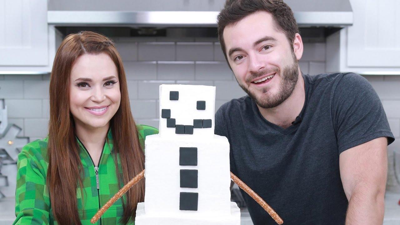 Queque del Snow Golem de Minecraft