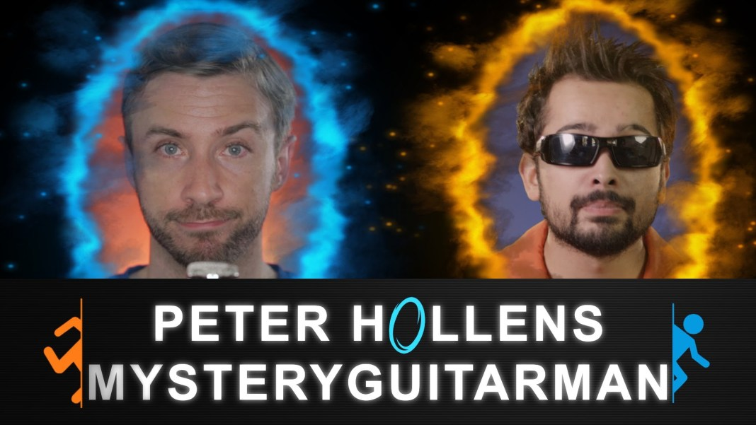 Portal Want you gone por Peter Hollens presentando a MysteryGuitarMan