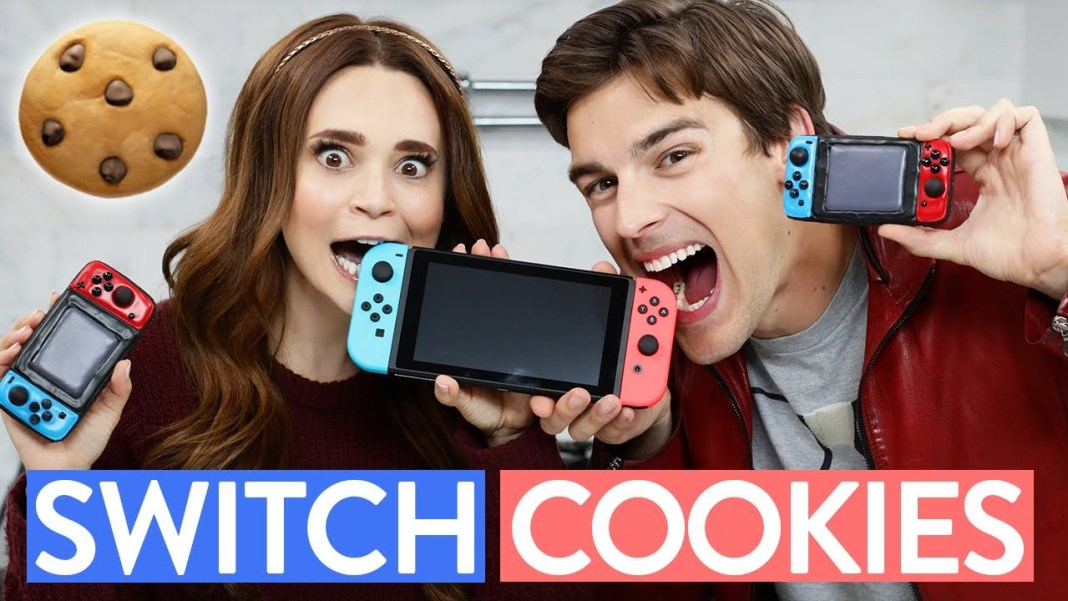 Galletas con forma de Nintendo Switch