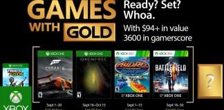 Games with Gold para Setiembre de 2017