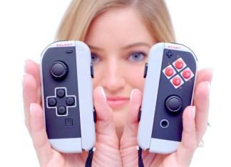 Joy-ConsClassic tematizados con imagen de NES para Nintendo Switch