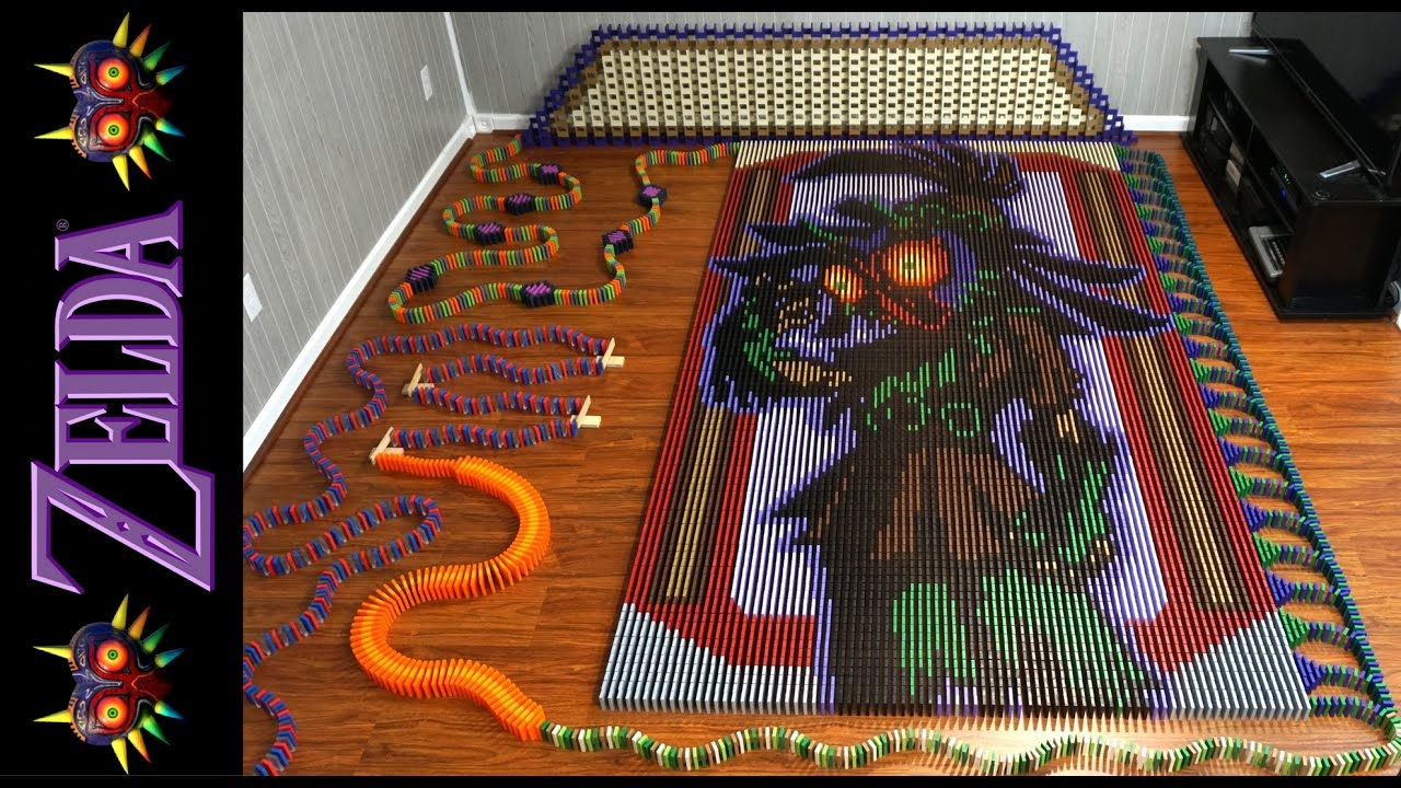 The Legend of Zelda Majoras Mask construido con 67507 dominós